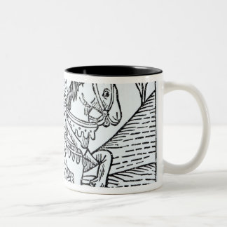A Knight, from Caxton's 'Game of the Chess' Two-Tone Coffee Mug