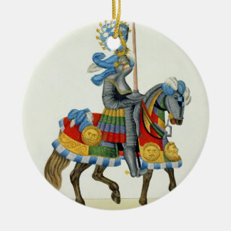 A knight on his way to a tournament, plate from 'A Christmas Ornament