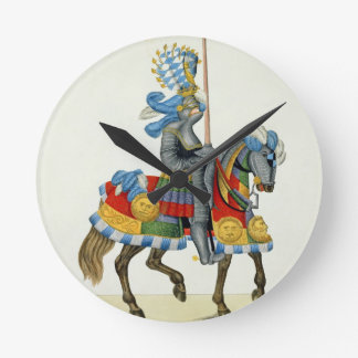 A knight on his way to a tournament, plate from 'A Wallclocks