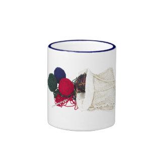 A Knitter's Bag Ringer Mug