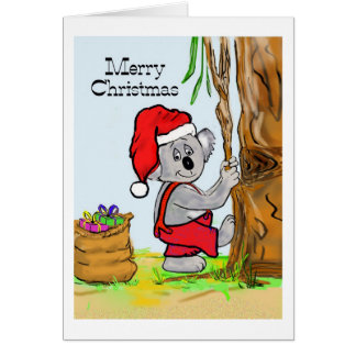 A Koala Merry Christmas Card