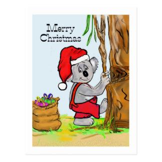 A Koala Merry Christmas Postcard