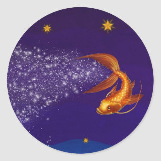 A Koi Among the Stars - sticker