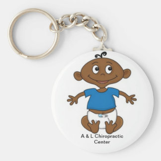 A & L Chiropractic Center Basic Round Button Key Ring