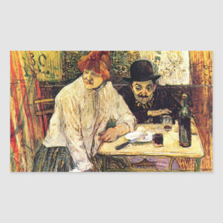 A la Mie in the Restaurant by Toulouse-Lautrec Sticker