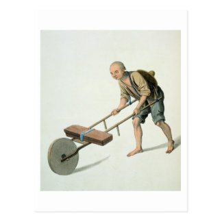 A Labourer, plate 27 from 'The Costume of China', Postcard