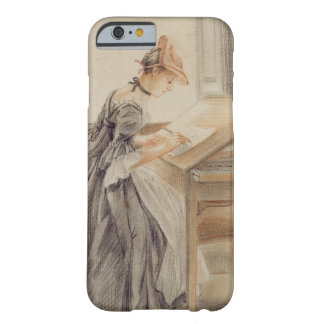 A Lady Copying at a Drawing Table, c.1760-70 (grap Barely There iPhone 6 Case