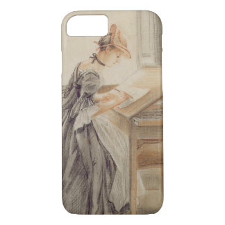 A Lady Copying at a Drawing Table, c.1760-70 (grap iPhone 8/7 Case