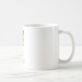 A lady holding a bear basic white mug
