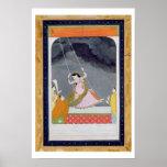 A lady on a swing, Kangra, Punjab hills c.1790 (op Poster