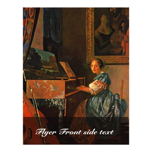 A Lady Seated At A Virginal,  By Vermeer Van Delft Custom Flyer