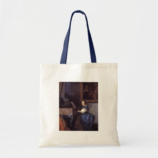 A Lady Seated at the Virginal Budget Tote Bag