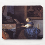 A Lady Seated at the Virginal Mouse Pads