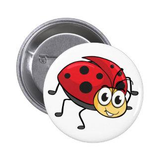a ladybug 6 cm round badge