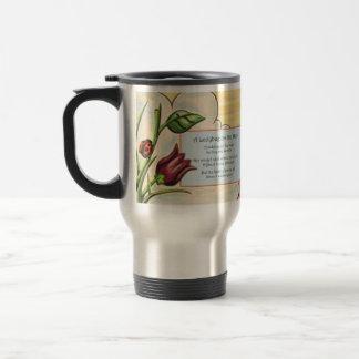 A Ladybug on the Stem 15 Oz Stainless Steel Travel Mug