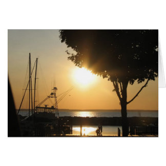 A Lake Michigan Sunset Greeting Card