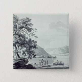 A Lake Scene 15 Cm Square Badge