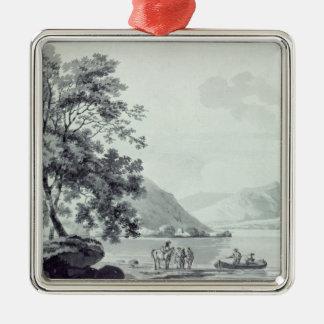A Lake Scene Christmas Ornament