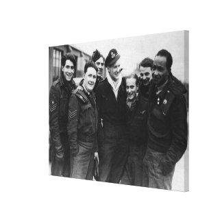 A Lancaster Bomber Crew Canvas Prints