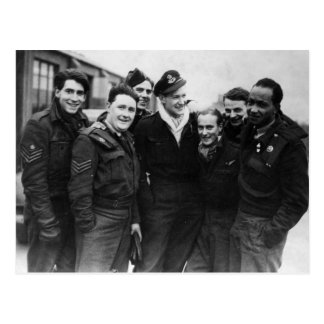 A Lancaster Bomber Crew Postcard