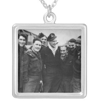 A Lancaster Bomber Crew Silver Plated Necklace