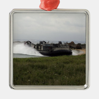 A landing craft air cushion comes ashore christmas ornament