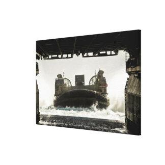 A landing craft air cushion prepares to enter canvas print