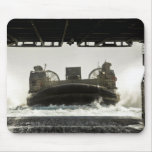 A landing craft air cushion prepares to enter mouse mat