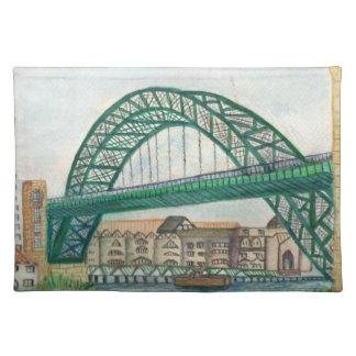 A Landmark of Newcastle upon Tyne BRIDGE placemats