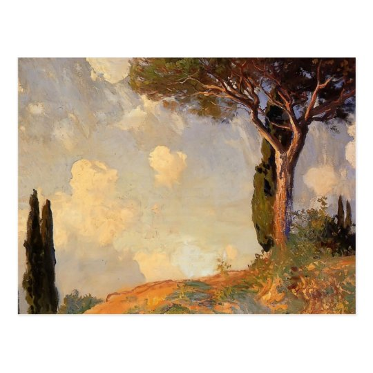 A Landscape Study at San Vigilio by John Sargent Postcard
