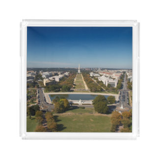 A landscape view of Washington DC Acrylic Tray