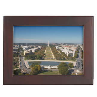 A landscape view of Washington DC Keepsake Box