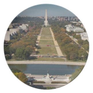 A landscape view of Washington DC Plate
