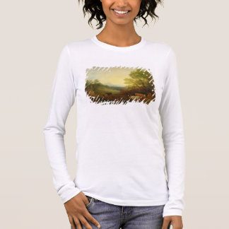 A Landscape with Cattle and Figures by a Stream an Long Sleeve T-Shirt