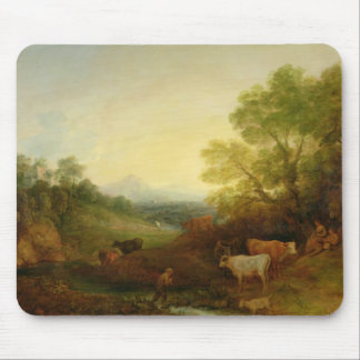 A Landscape with Cattle and Figures by a Stream an Mouse Pad