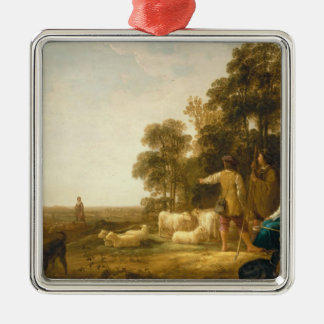 A Landscape with Shepherds and Shepherdesses Christmas Ornament