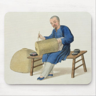 A Lantern Painter, plate 20 from 'The Costume of C Mouse Pad