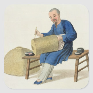 A Lantern Painter, plate 20 from 'The Costume of C Square Sticker