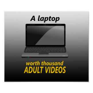 A Laptop Worth Thousand Adult Videos Poster
