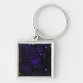 A large collection of galaxies Silver-Colored square key ring