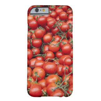 A large crop of tomato on a market stall in barely there iPhone 6 case