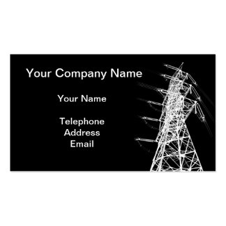 A Large Electricity Powermast Business Card Templates