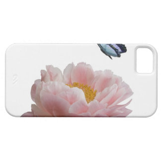 a large pink peony is visited by a ethereal iPhone 5 case