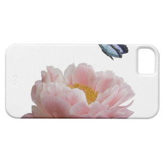 a large pink peony is visited by a ethereal iPhone 5 cases