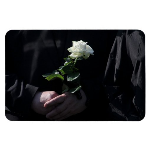 A Last White Rose Vinyl Magnet