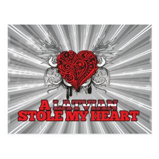 A Latvian Stole my Heart Postcard