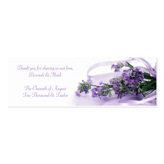 A Lavender Blessing Sachet Tag Pack Of Skinny Business Cards