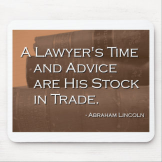 A Lawyer's Time and Advice Mouse Mat