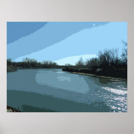 A Lazy River Transformed Print