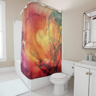 A Leaf In The Wood Autumn Abstract Shower Curtain